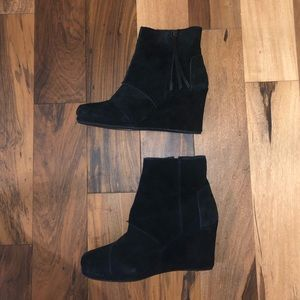 Toms Suede boot wedges Size 7.5